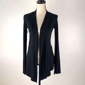 Splendid Open Black Solid Sweater Size S